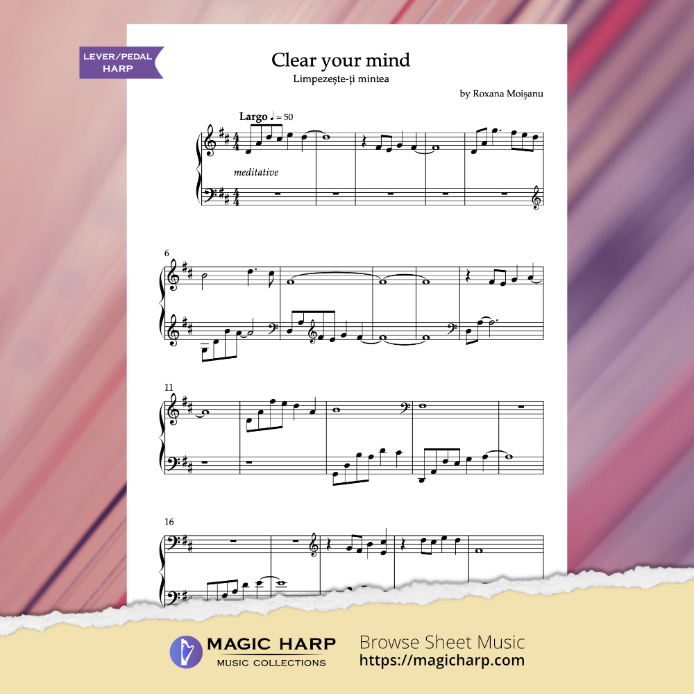 Clear your mind by Roxana Moișanu (D major) - preview