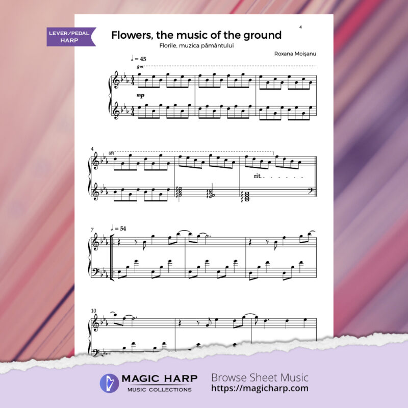 The poetry of flowers Suite - Flowers music of the ground by Roxana Moișanu - preview 1