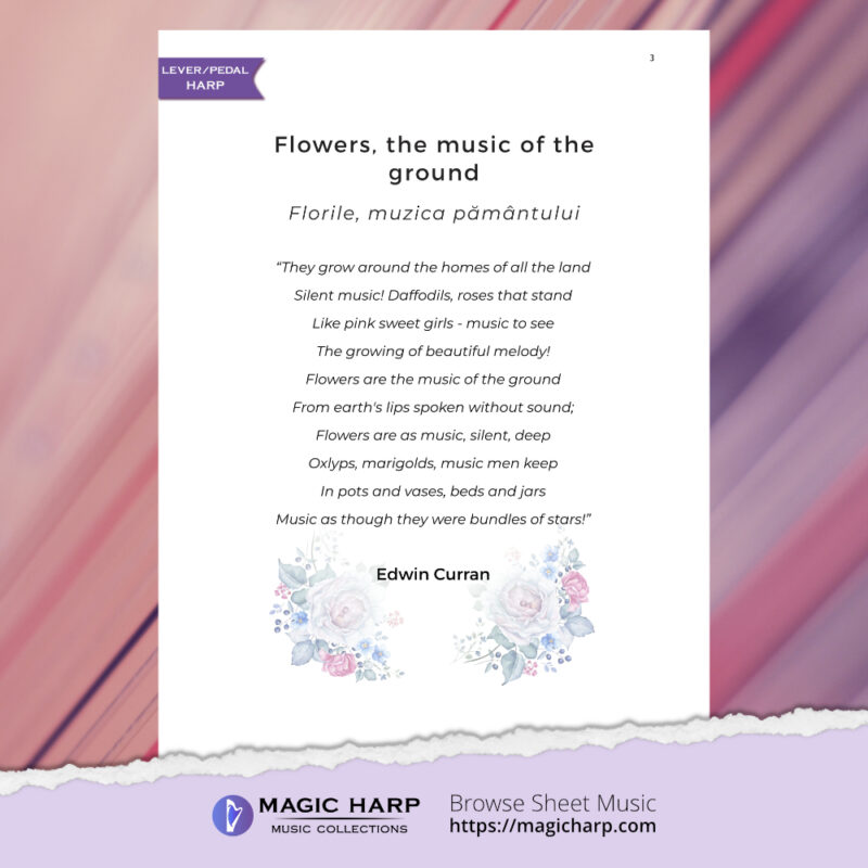 The poetry of flowers Suite - Flowers music of the ground by Roxana Moișanu - preview 2