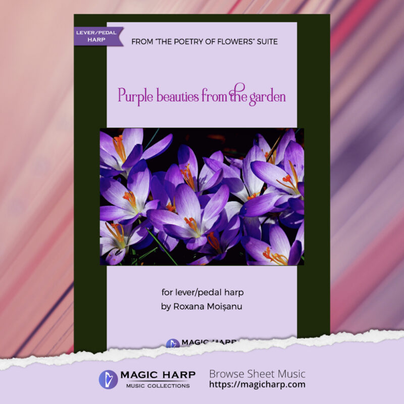 The poetry of flowers Suite - Purple beauties from the garden by Roxana Moișanu - cover