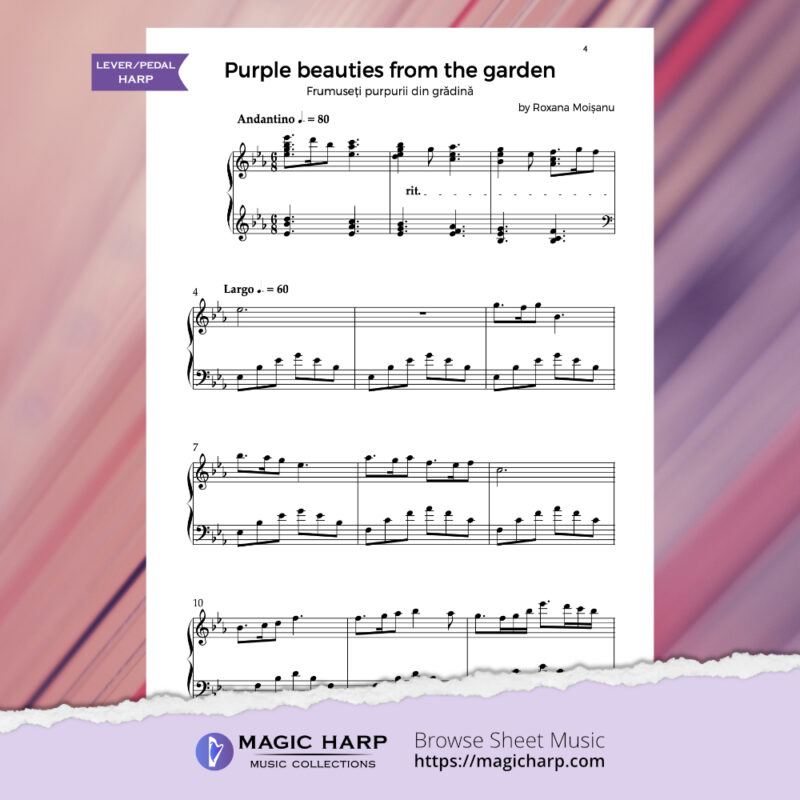 The poetry of flowers Suite - Purple beauties from the garden by Roxana Moișanu - preview 1
