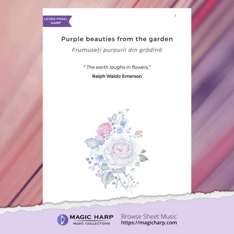 The poetry of flowers Suite - Purple beauties from the garden by Roxana Moișanu - preview 2