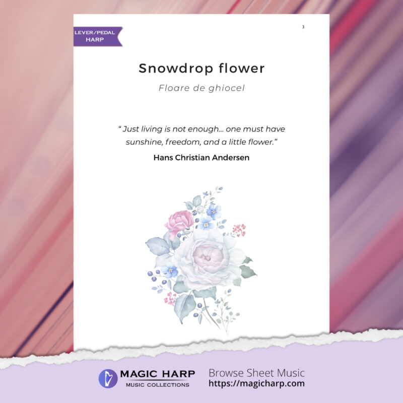 The poetry of flowers Suite - Snowdrop flower by Roxana Moișanu - preview 2