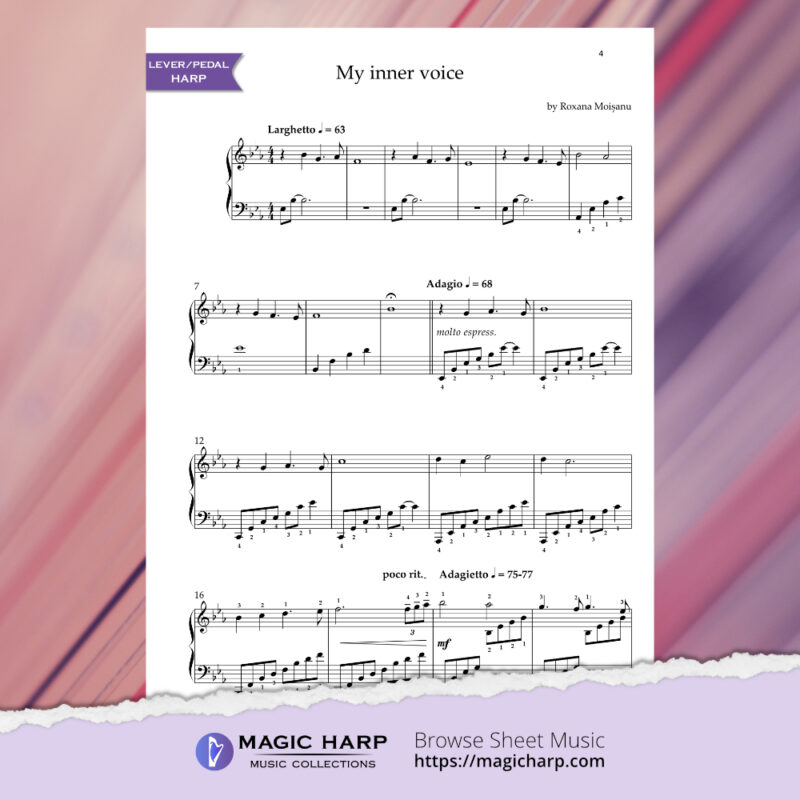 My inner voice by Roxana Moișanu • magicharp.com•Magic Harp Music Collections-preview1