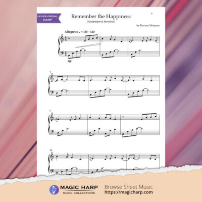 Remember the happiness for harp by Roxana Moișanu • magicharp.com - preview2