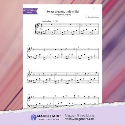 Sweet dreams little child for harp by Roxana Moișanu • magicharp.com - 2