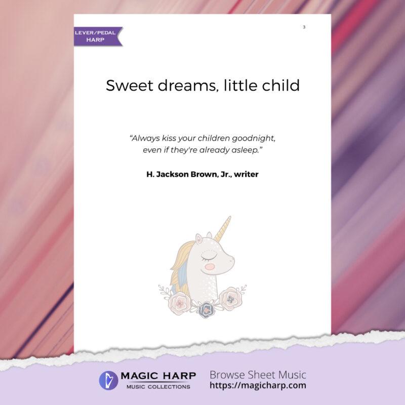 Sweet dreams little child for harp by Roxana Moișanu • magicharp.com - 3