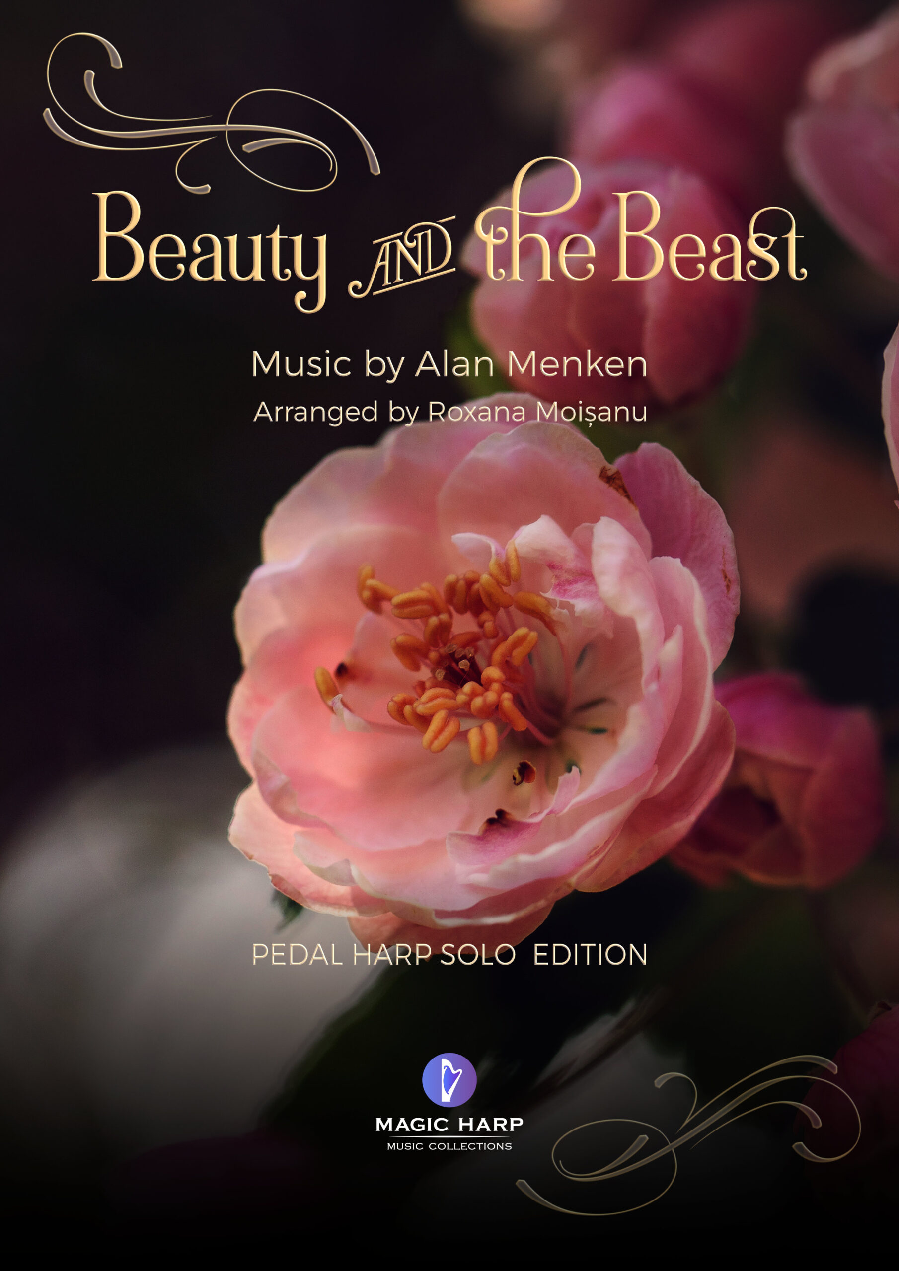 Beauty and the beast cover by Roxana Moisanu - PEDAL HARP SOLO EDITION