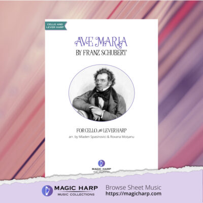 Ave Maria for cello and harp arr by Duo CellArpa • magicharp.com - 1