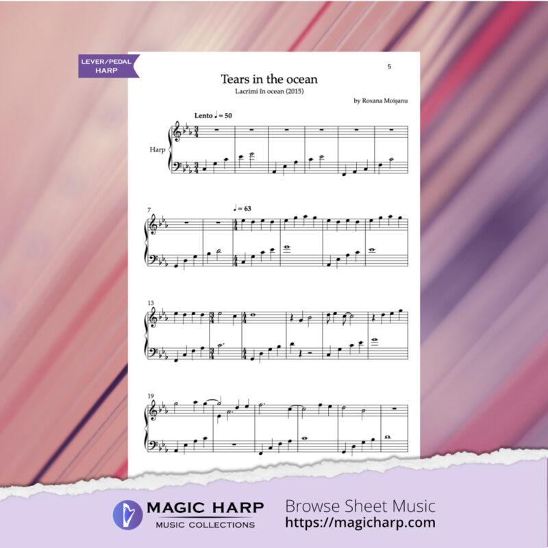 Tears in the ocean for harp by Roxana Moișanu • magicharp.com_3