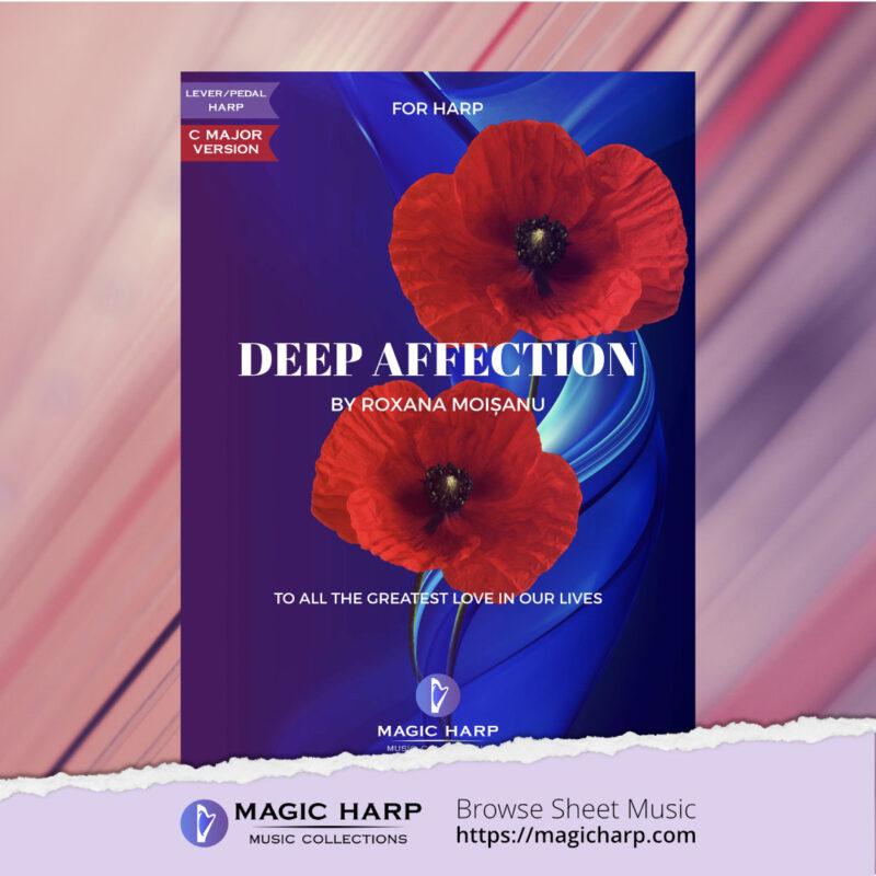 Deep affection (C major) for harp by Roxana Moișanu • magicharp.com - 1