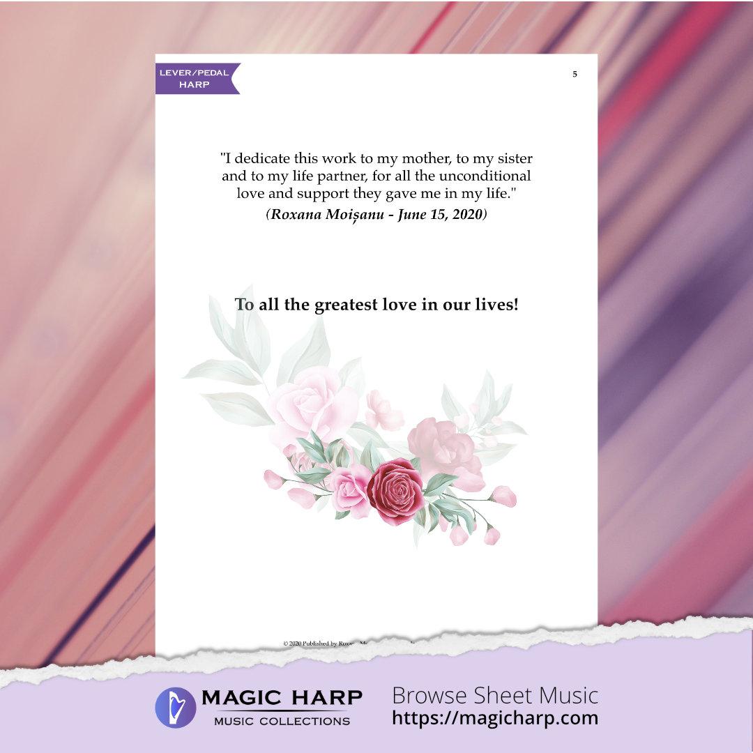 Deep affection (C major) for harp by Roxana Moișanu • magicharp.com - 3