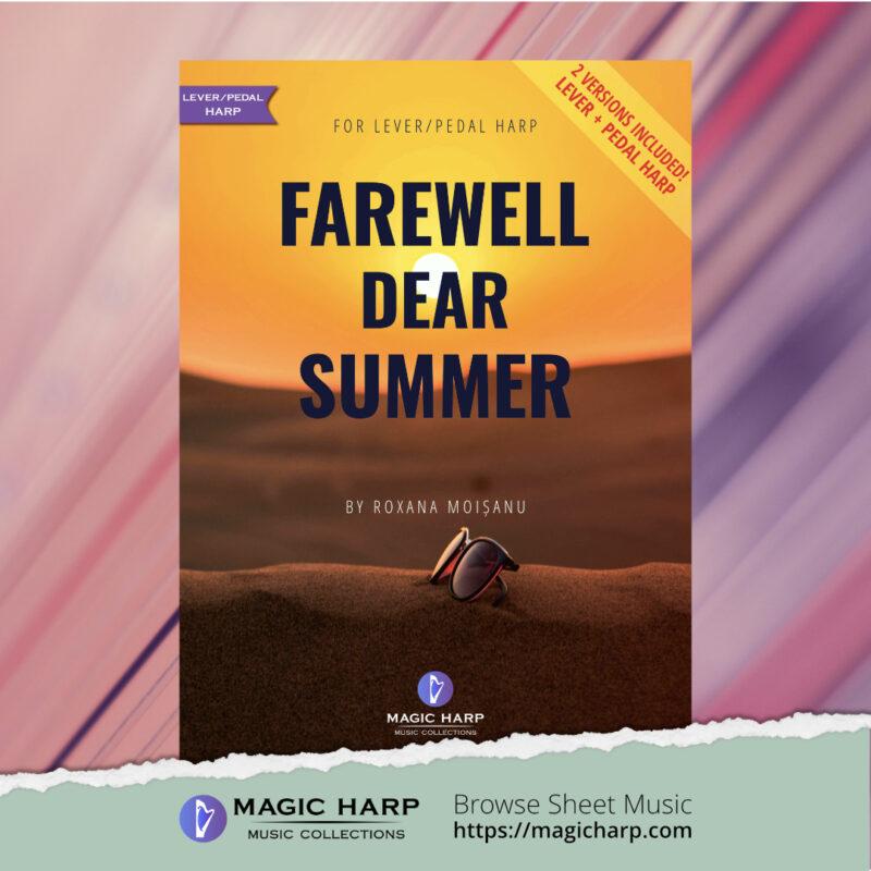 Farewell dear summer for harp by Roxana Moișanu • magicharp.com -2-versions