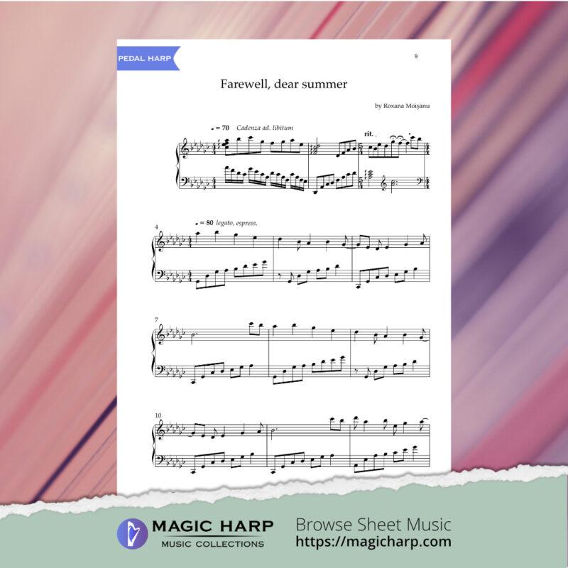 Farewell dear summer for harp by Roxana Moișanu • magicharp.com - 4