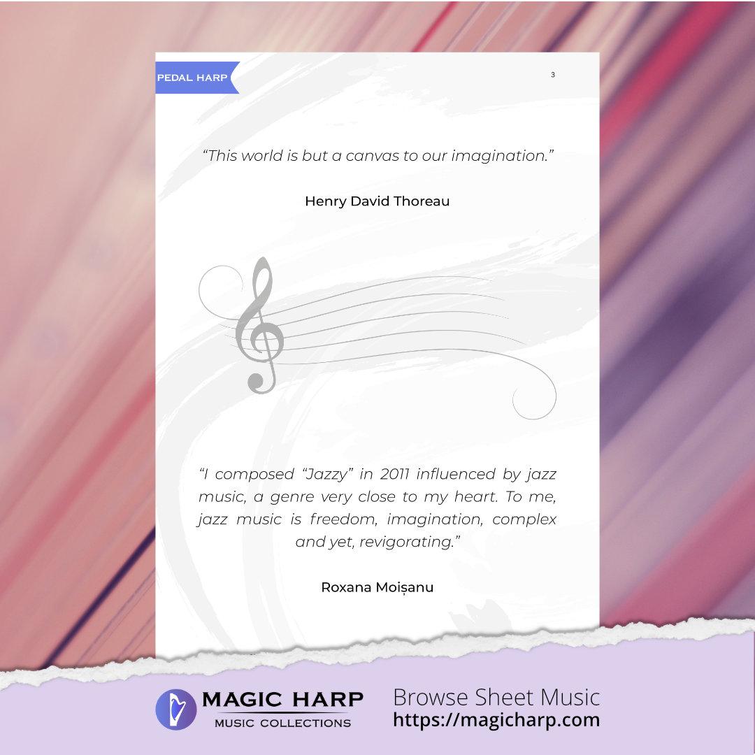 Jazzy for harp by Roxana Moișanu • magicharp.com - 2