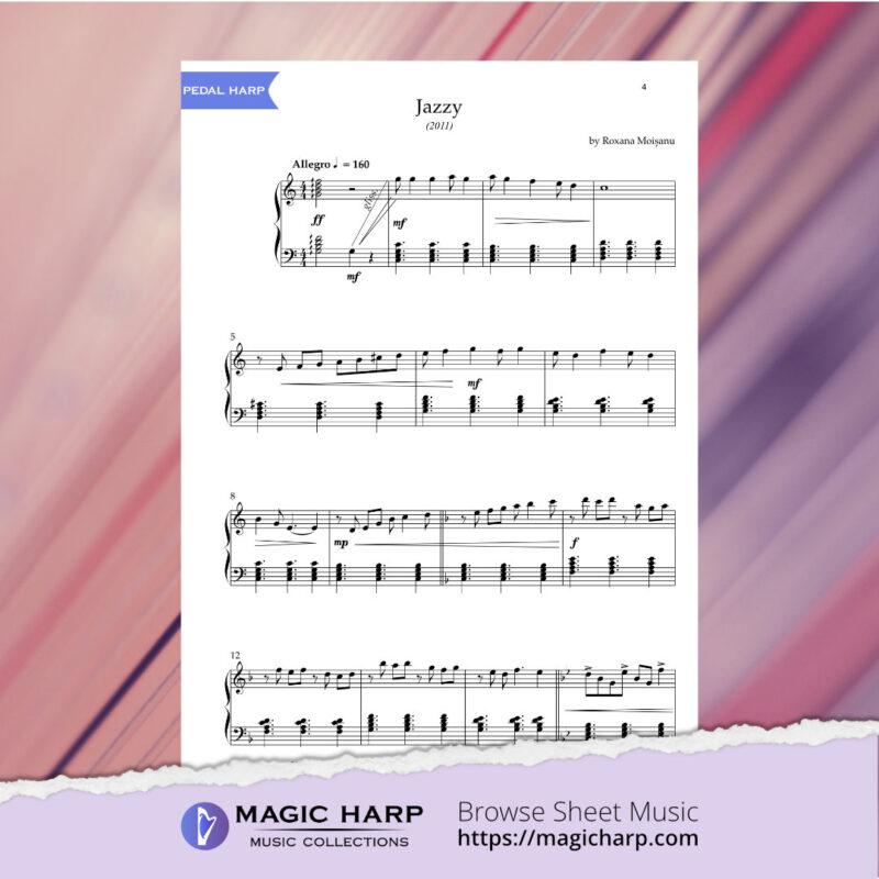 Jazzy for harp by Roxana Moișanu • magicharp.com - 3