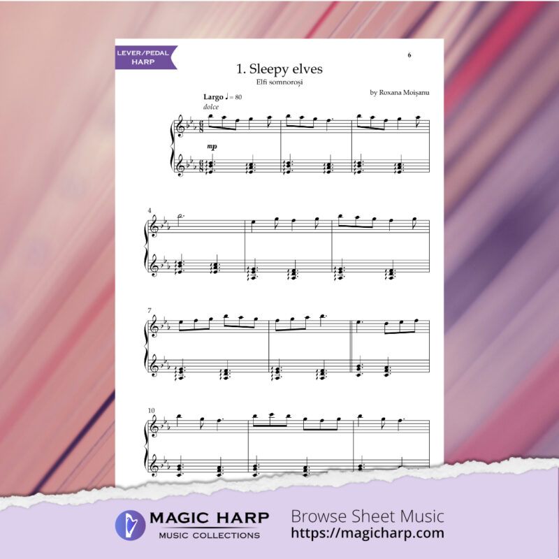 The Suite of Elves for harp by Roxana Moișanu • magicharp.com - 3