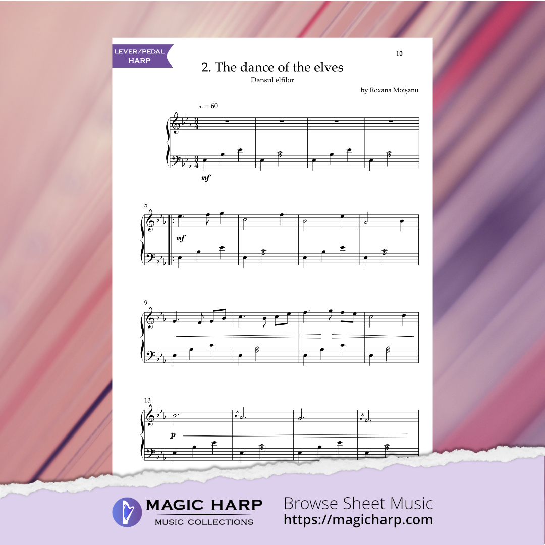 The Suite of Elves for harp by Roxana Moișanu • magicharp.com - 4