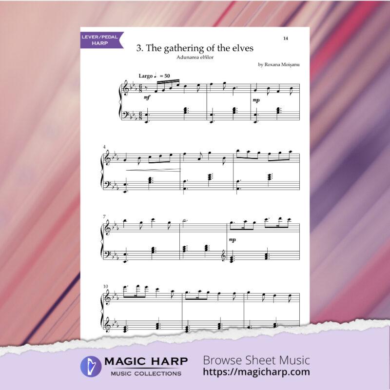 The Suite of Elves for harp by Roxana Moișanu • magicharp.com - 5