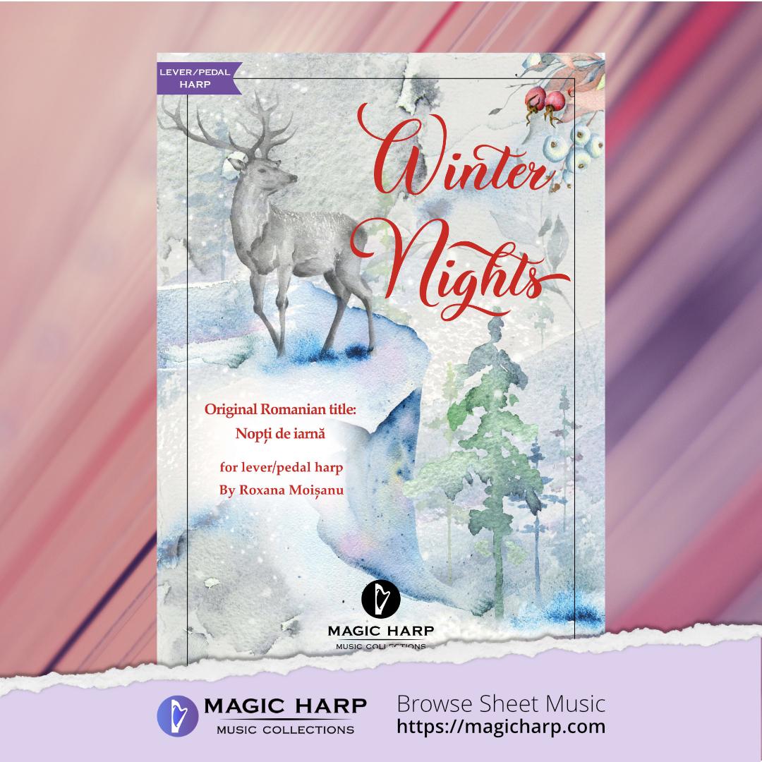 Winter nights for harp by Roxana Moișanu • magicharp.com - 1